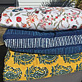 Sofa cover, au choix, coton indien block print, matelas pour <b>chaise</b> longue ou matelas de plage