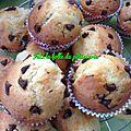Muffins au pépite de chocolat