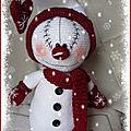 Mr Snowman (<b>bonhomme</b> de Noël au crochet)