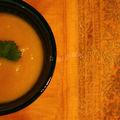 Veloute de carottes a la coriandre