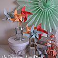 moulins à vent abricot peche corail argent vert eau mariage photobooth bapteme baby shower décoration chambre bébé fille