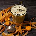 Soupe de lentilles corail et carottes au quinoa et graines de courge