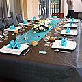 Table noire et turquoise pour les 50 ans de ma mounette