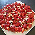 Tarte aux fraises, crème d'amandes et sablé breton
