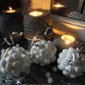 Boules de noël en coquillages