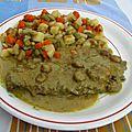 <b>Filets</b> de <b>b</b>œ<b>uf</b> à la sauce au curry et lait de coco