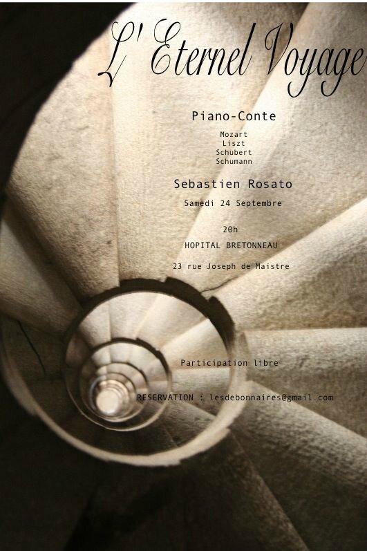 """Concert de Piano """"L'Eternel Voyage"""" le samedi 24 septembre 20h à l'hoptial Bretonneau"""