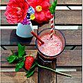 Smoothie vitaminé fraise-pamplemousse-menthe