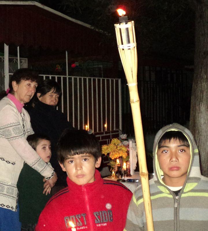 Rodrigo en la vía crucis en la SFamilia