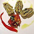roulé aubergines/courgettes
