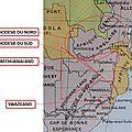Afrique du sud anglaise - bechuanaland - rhodésie - swaziland - carte