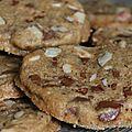 Cookies aux noisettes et pépites de chocolat
