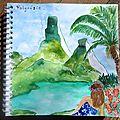 Aquarelles des îles polynésiennes