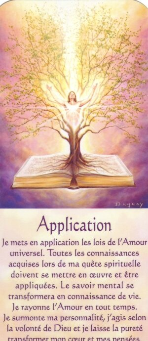 application + texte