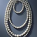 Necklace of 177 Saxon pearls before <b>1734</b> from the Vogtland waters