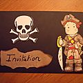 Carton d'invitation tout simple