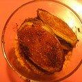 Verrine de boudin au spéculos et bananes épicées