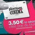 Le printemps du cinéma : du dimanche 20 au mardi 22 mars, le billet à 3,50€