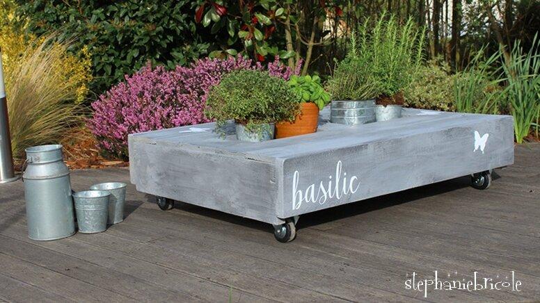 DIY écolo - Une table jardinière ou apéro ? en palette !