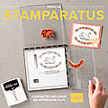 Stampin up : nouveau catalogue et stamparatus