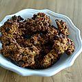Rochers express beurre de cacahuète-flocons d'avoine-chocolat