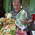 Les collectes du tricot solidaire en septembre et octobre 2012 : diverses création en laine ou en textile