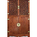 A magnificent and extremely rare huanghuali square-corner <b>display</b> cabinet, Late Ming dynasty