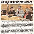 Antoinette <b>ARNOUX</b> prend la présidence de l'Association du Lien :