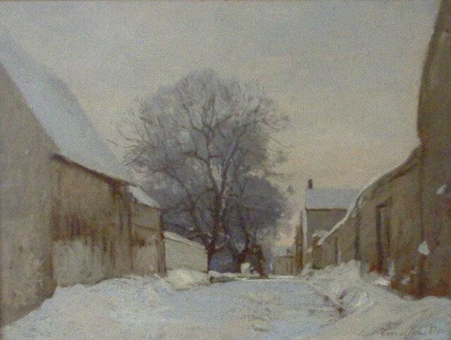 Paysage de neige 1871