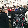 Manifestation RESF école Branly