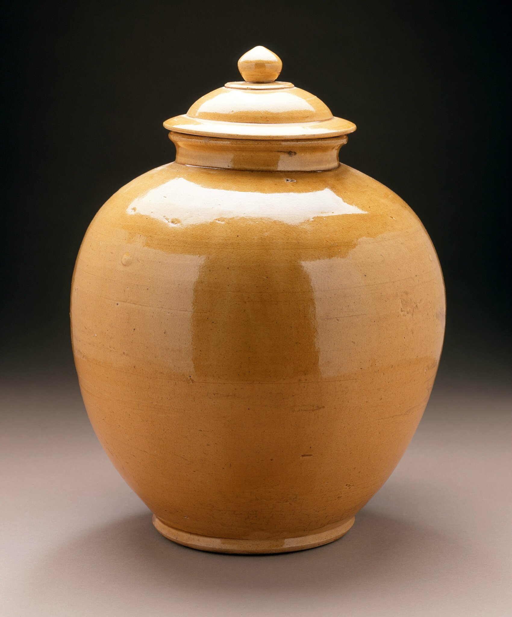 Lidded Jar (Guan), China, Middle Tang dynasty, about 700-800