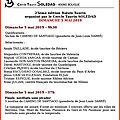 CARTEL DU <b>BOLSIN</b> DE BOUGE 2019