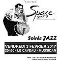 Vendredi 3 février - space quartet - soirée jazz au caveau / mussidan