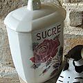 pot à sucre modèle lucette
