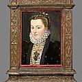 Ecole française vers 1580, suiveur de Jean Clouet dit Jeanet, Portrait <b>d</b>'<b>Elisabeth</b> <b>d</b>'<b>Autriche</b>, femme de Charles IX.
