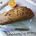 Cake noisette et orange