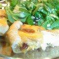 Quichette aux trois fromages et aux fruits secs