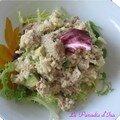Entrée - salade thon-riz-avocat