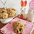 Cookies flocons d'avoine chocolat