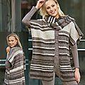Modèles de tricots à rayures et poncho au crochet