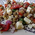 Salade de lentilles au <b>Cheddar</b>