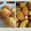 Madeleines au citron 450 gr farine / 400 gr de