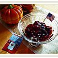 Pintade farcie, pommes au four et sauce au <b>cranberries</b>......pour le défi TANKSGIVING <b>CRANBERRIES</b>....