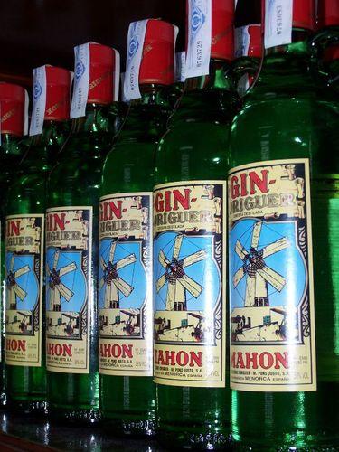Gin fabriqué à Mahon
