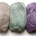Fils à tricoter. nouvelles couleurs.