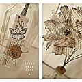 Fiole et fleurs papier N°20 (2)
