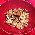 Riz aux champignons (Kinâko no takikomi gohan)