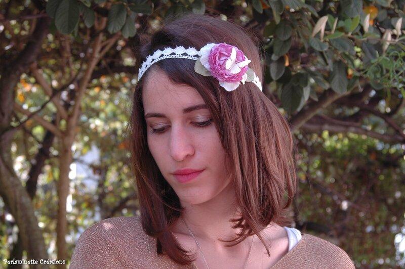 Headband serre tête pour les mariées qui ont choisi un style romantique, bohème chic, simple et raffiné
