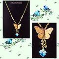 Collier papillon et coeur