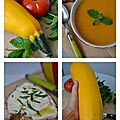 Soupe courgette, tomates, menthe1